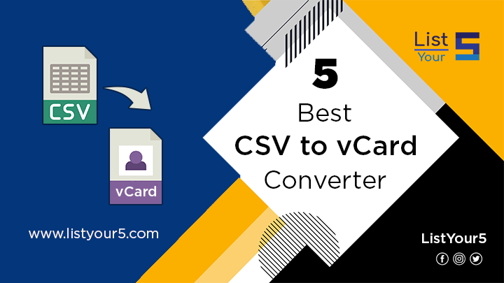 Photo of Top 5 CSV to vCard Converter to Export Contacts from Excel to vCard VCF
